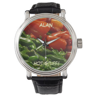 Hot Stuff Wrist Watch, Peppers, Chilies Watch