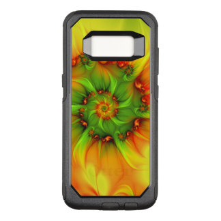 Hot Summer Green Orange Abstract Colorful Fractal OtterBox Commuter Samsung Galaxy S8 Case