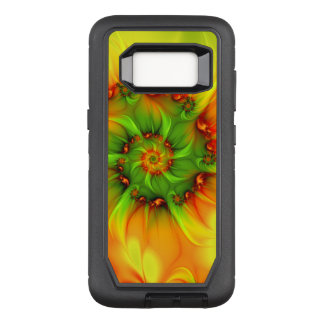 Hot Summer Green Orange Abstract Colorful Fractal OtterBox Defender Samsung Galaxy S8 Case