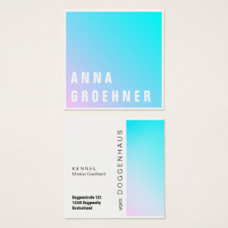 Hot Summer Modern Gradient Statement Square Business Card