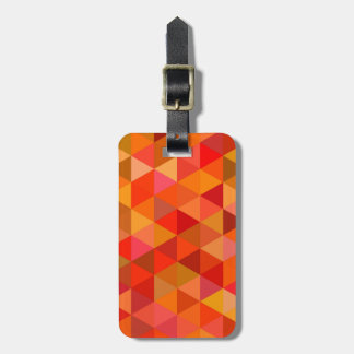 Hot sun triangles bag tag