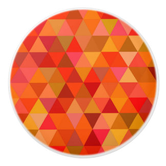 Hot sun triangles ceramic knob