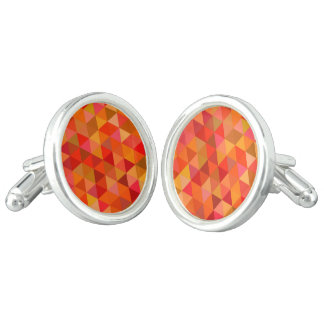 Hot sun triangles cufflinks