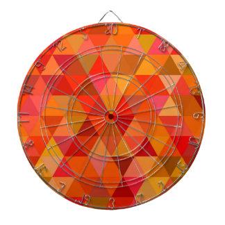 Hot sun triangles dartboard