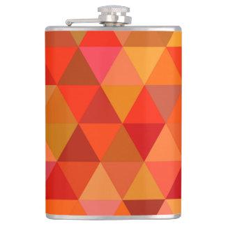 Hot sun triangles flask
