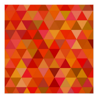 Hot sun triangles poster