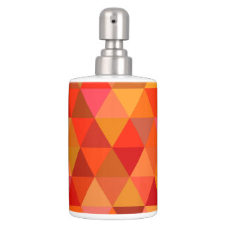 Hot sun triangles soap dispenser and toothbrush holder