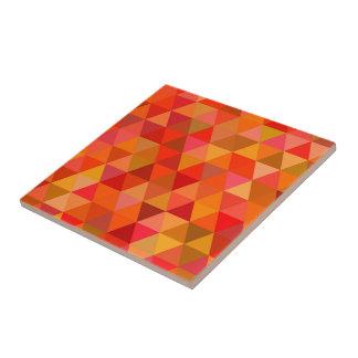 Hot sun triangles tile