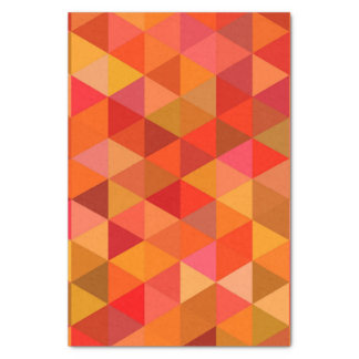 Hot sun triangles tissue paper