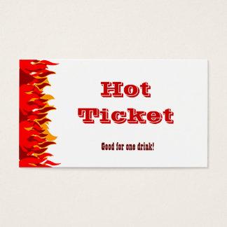 Hot Ticket Red Flames Voucher Template