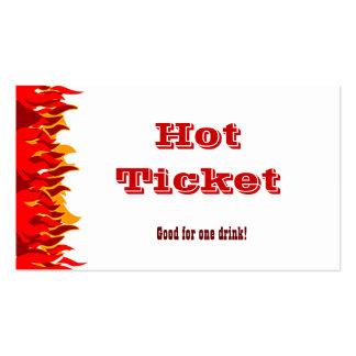 Hot Ticket Red Flames Voucher Template Business Card