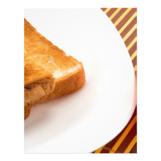 Hot toast with butter and cup of tea letterhead