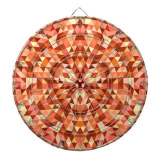 Hot triangle mandala dartboard