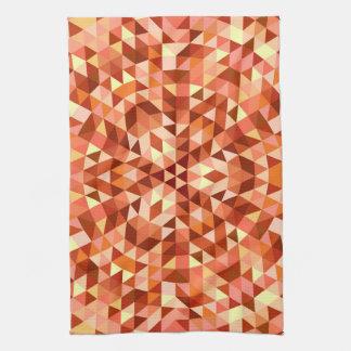 Hot triangle mandala hand towel