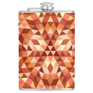 Hot triangle mandala hip flask