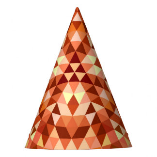 Hot triangle mandala party hat