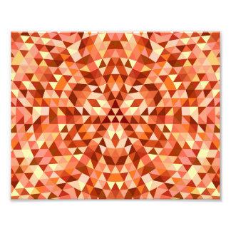 Hot triangle mandala photo print