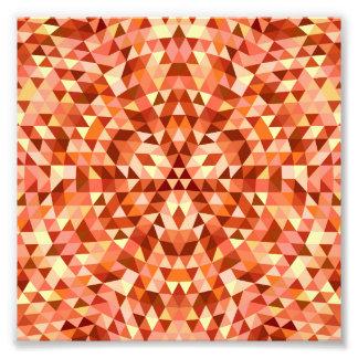 Hot triangle mandala photograph