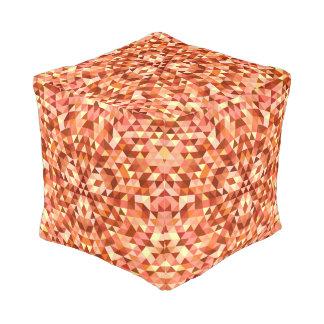 Hot triangle mandala pouf