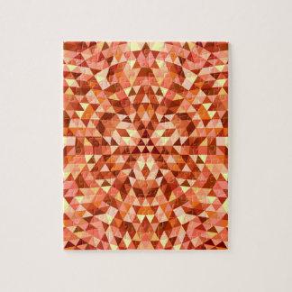 Hot triangle mandala puzzles