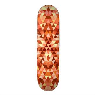 Hot triangle mandala skateboard deck