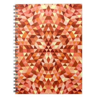 Hot triangle mandala spiral notebook
