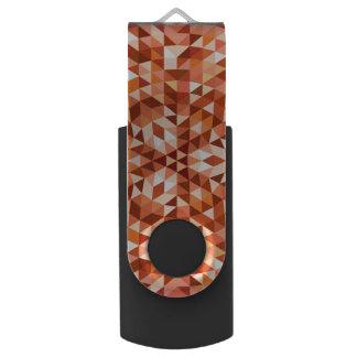 Hot triangle mandala swivel USB 3.0 flash drive