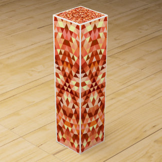 Hot triangle mandala wine box