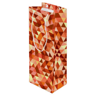 Hot triangle mandala wine gift bag
