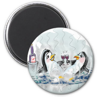 Hot Tub Penguins! Magnet