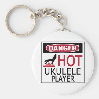 Hot Ukulele Player Keychain