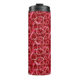 Hot Valentine Hearts Thermal Tumbler