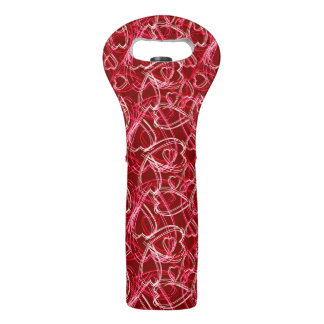 Hot Valentine Hearts Wine Bag