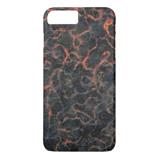 Hot Volcanic Ash Red Lines of Lava Texture Pattern iPhone 7 Plus Case