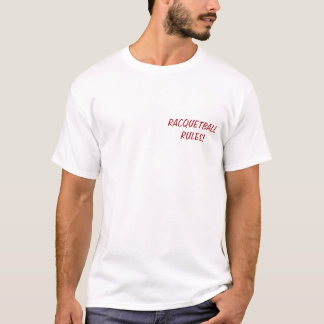 HOT WOMEN PLAY RACQUETBALL tshirt