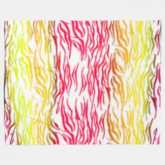 Hot Zebra Stripes Fleece Blanket