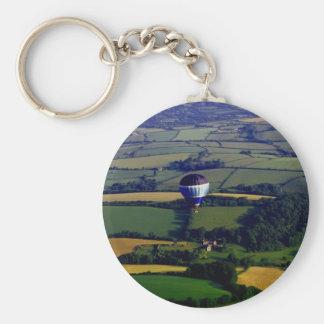 Hotair Ballon And View Keychain
