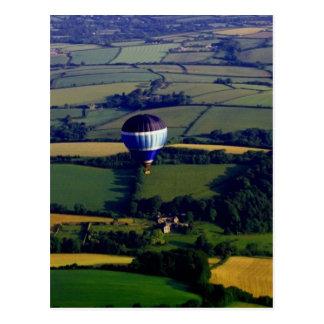 Hotair Ballon And View Postcard