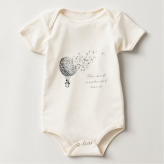 hotair dandylion baby bodysuit