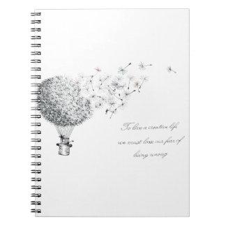 hotair dandylion notebook