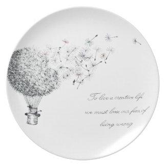 hotair dandylion plate