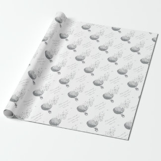 hotair dandylion wrapping paper