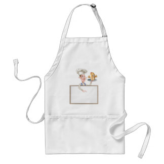 Hotdog Cartoon Chef Signboard Standard Apron