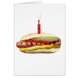 Hotdog Deluxe Birthday card