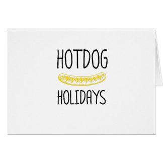 Hotdog Holidays Party Family Funny Card