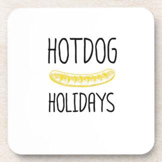 Hotdog Holidays Party Family Funny Coaster