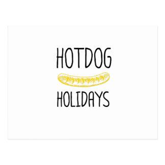 Hotdog Holidays Party Family Funny Postcard