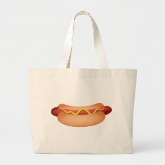 Hotdog Large Tote Bag