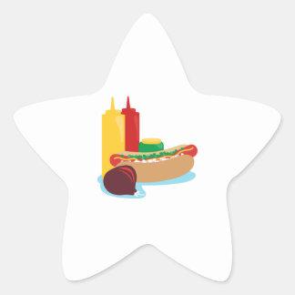Hotdog Lunch Star Sticker