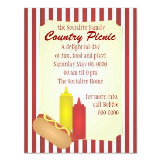 Hotdog Picnic Card